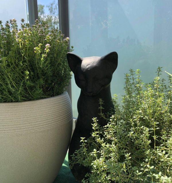 Pfoetli Shop-Katze-Dekoration-braun-Garten-Geschenk