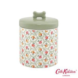 Pfoetli-Shop-Napf-Keramik-Dose-Keramik-Blumen-Rosen-Cath-Kidston-London-Hund-Katze-gruen-weiss-rosa-gelb-kuschlig-Leckerlidose
