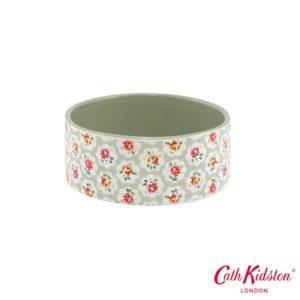 Pfoetli-Shop-Napf-Keramik Napf-Keramik-Blumen-Rosen-Cath Kidston London-Hund-Katze-gruen-weiss-rosa-gelb-kuschlig