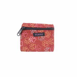 Portemonnaie-Baumwolle-Pfoten-Pfoetchen-Indien-Fairtraide-Pfoetli-Shop-Nijens-bedruckt-rot-Nijens Stoff-Portemonnaie NJ-0151