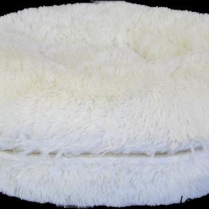 Hundebett-Donut-Puff-kuschelweich-komfortabel-petsolutions-Jacke and Vanilla-Home sweet Home-Hund-Luxus-weiss