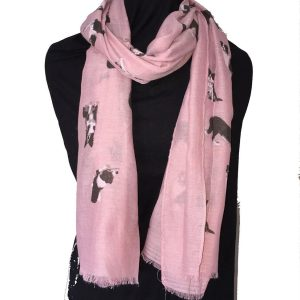 Schal-Border Collie-Huetehund-kuschlig-warm-trendig-Hundefreund-Hund-rosa