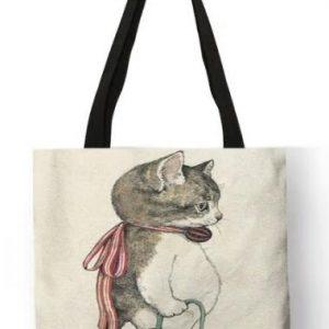 Shopper-Tasche-Einkauf-Oekologisch-umweltbewusst-Katze-Maus-Masche