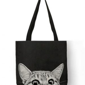 Shopper-Tasche-Einkauf-Oekologisch-umweltbewusst-Katze-schwarz