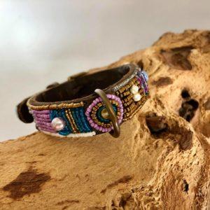 Simomilano-Hundehalsband-Perlenhalsband-Afrika-Masai-Handwerk-Kunsthandwerk-Perlen-Ecletico lila