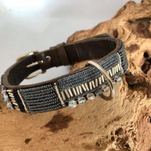 Simomilano-Hundehalsband-Perlenhalsband-Afrika-Masai-Handwerk-Kunsthandwerk-Perlen-silber