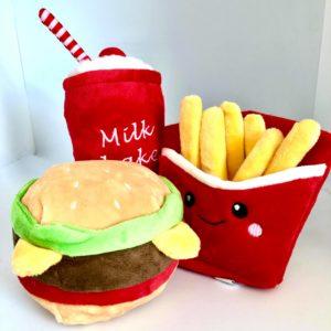 Spielzeug-Hundespielzeug-Hundespieli-Shake-Burger-Pommes frites-French fries-Spass-Hund (2)