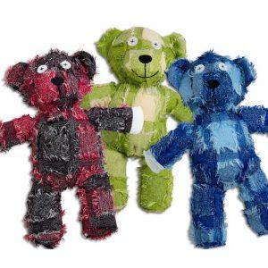 Velvetie Baer-Hundespielzeug-Spielzeug-Baer-rot-gruen-blau-Quietscher-Spielspass