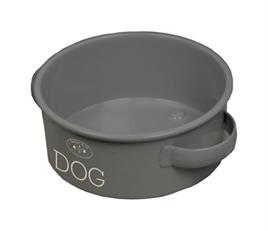 Hundefressnapf, Fressnapf, grau, Vintage, Shabby, Hund, Dog