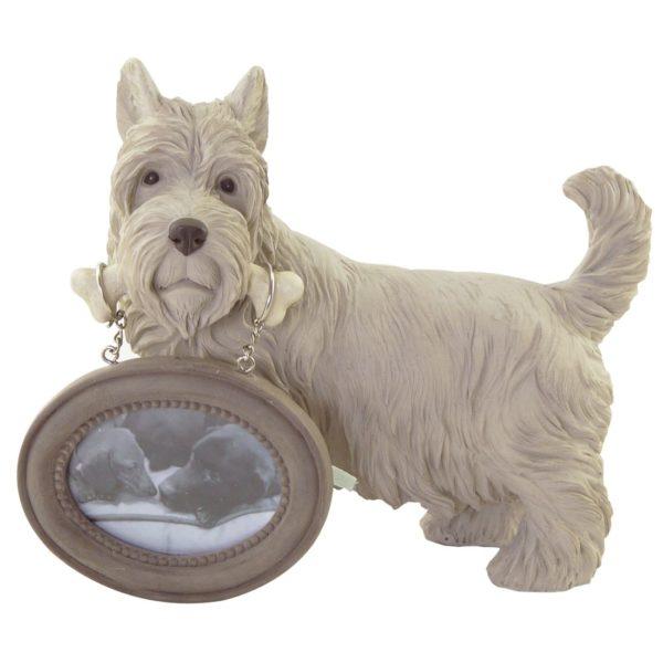 bilderrahmen-mit-terrier-Westi-West-Highland-White-Terrier-Vintage-weiss-Hund-Hundeliebhaber-Dog-Doglover