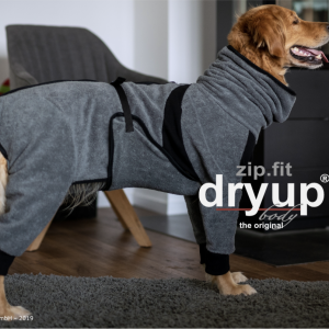 dryup-body-zip-fit-Trocknungsmantel-Hundebademantel-Hund-Auto-grey