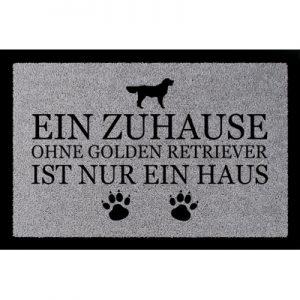 fussmatte-geschenk-ein-zuhause-ohne-golden-retriever-tierisch-hund-hellgrau