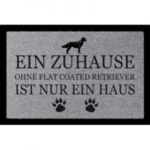 fussmatte-tuermatte-ein-zuhause-ohne-flat-coated-retriever-hund-viele-farben-hellgrau
