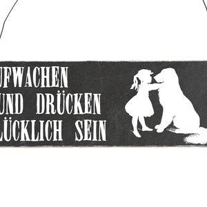 holzschild-shabby-vintage-retro-aufwachen-hund-druecken-hund-tier-haustier