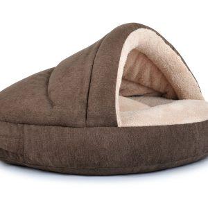 shell-hundebett-katzenbett-kuschlig-warm-komfortabel-hoehle-braun-beige
