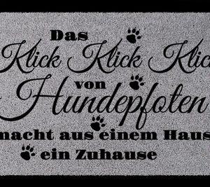 tuermatte-fussmatte-das-klick-klick-klick-hund-haustier-eingang-flur-hundepfote-hellgrau